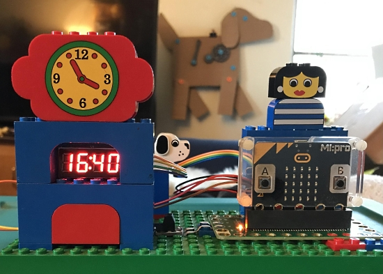 Lego and micro:bit clock