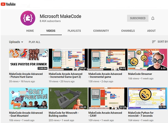 Microsoft YouTube Channel